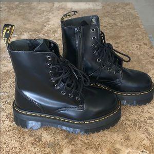 Black Jadon Dr. Martens platform combat boots